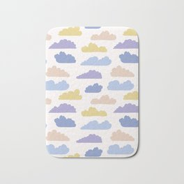Hand drawn vector cloud illustration. Seamless repeating pattern Bath Mat
