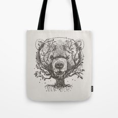 Bear n Tree Tote Bag