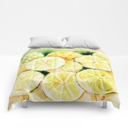 Limes and lemons Comforters