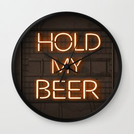 Hold My Beer Neon Bar Light Wall Clock