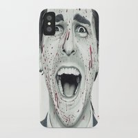 american psycho iPhone & iPod Cases featuring American Psycho by TYP Portraits