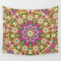 mandela Wall Tapestries featuring psychedelic lace by Joe Paczkowski