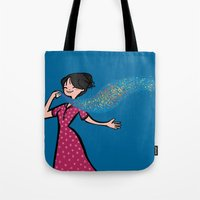 perfume Tote Bags featuring Perfume by Bea Blanco