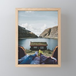 Peace and Quiet at the Faroe Islands Cottage Framed Mini Art Print