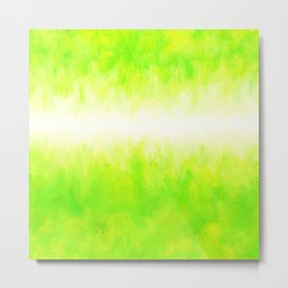 Neon Lemon Lime Abstract Metal Print