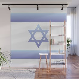 flag of Israel - with color gradient Wall Mural