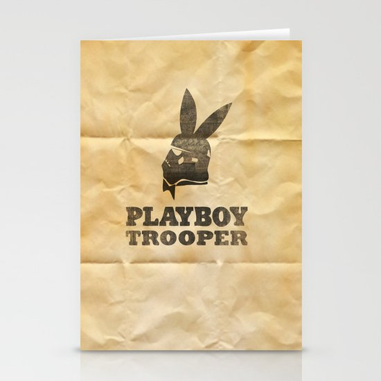playboy trooper  Stationery Cards