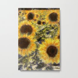 Sunflowers Vincent van Gogh Metal Print