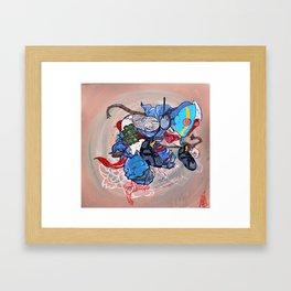 listenin Framed Art Print