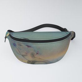 Woman hidden in a world of flowers Fanny Pack