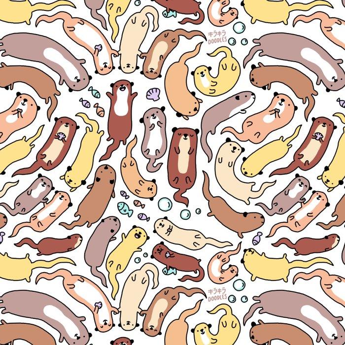 Adorable Otter Swirl Leggings