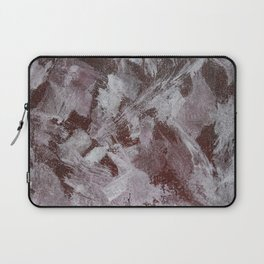 White Ink on Red Background Laptop Sleeve