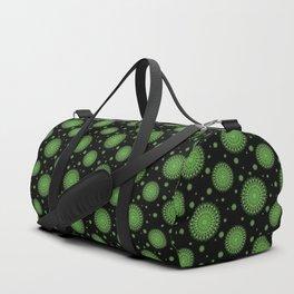 Glowing green mandala Duffle Bag