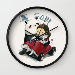 Panda New Year Wall Clock