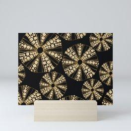 Gold and Black Sea Urchin  Mini Art Print