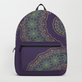 Lotus Mandala in Dark Purple Backpack