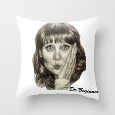 Asha Cuthbert    By Davy Wong Throw Pillow