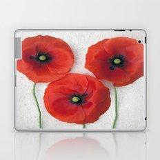 Three red Poppies III Laptop & iPad Skin