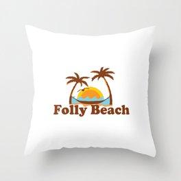 Folly Beach - South Carolina. Throw Pillow