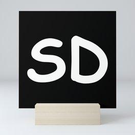 StateMeant USA South Dakota SD Mini Art Print