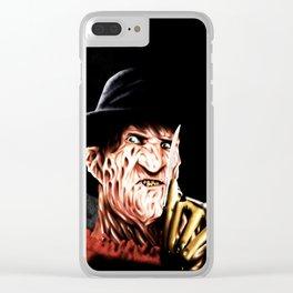 Freddy Krueger Clear iPhone Case