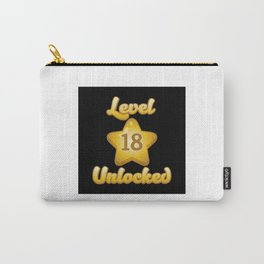 Level 18 Unlocked - Funny Gaming Quote Gift Carry-All Pouch