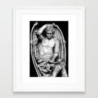 demon Framed Art Prints featuring Demon by leonmorley