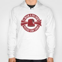 fez Hoodies featuring Fezzes are cool-Doctor Who by Fanny Öqvist Westerberg