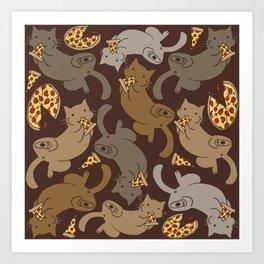 Pizza Cats Art Print