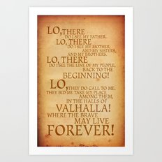 Viking Prayer Art Print