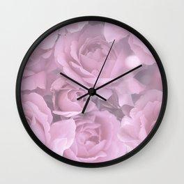 Pink Rose Bouquet Romantic Atmosphere #decor #society6 #buyart Wall Clock