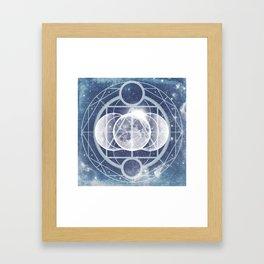 Alchemy: Lunar Phases Framed Art Print