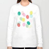 eggs Long Sleeve T-shirts featuring Easter Eggs by K&C Design