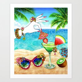 Summer Refreshment_Watermelon Art Print