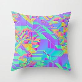 Rainbow neon Throw Pillow