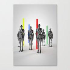 Static Girls Canvas Print