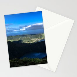 Two Volcanic Lakes Stationery Cards