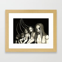 Creepy Dolls I Framed Art Print