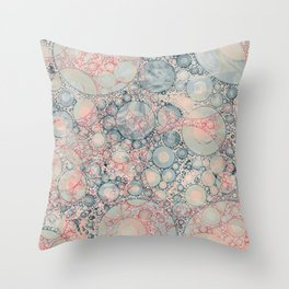Vintage Bubble Cell Pattern Abstract Throw Pillow