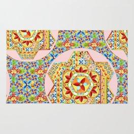 Gypsy Boho Chic Hexagons Rug