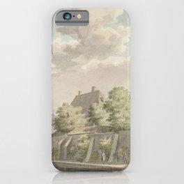 Cornelis Pronk - The town of Geervliet and part of Hof van Putten Castle (1750) iPhone Case