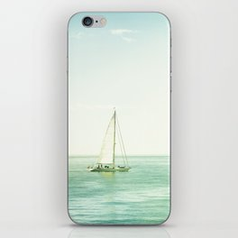 Sailboat Coastal Photography, Sail Boat Ocean Sea Photo iPhone Skin