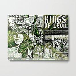 Leon Lives On Aha King Metal Print