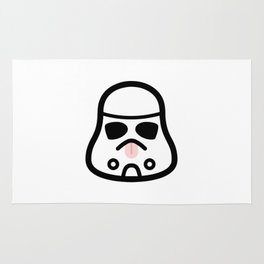 Minimal Stormtrooper (Tongue Out) Rug