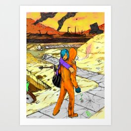 Post Apocalyptic Love Story Art Print