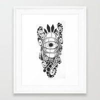 evil eye Framed Art Prints featuring Evil Eye by King Catastropa