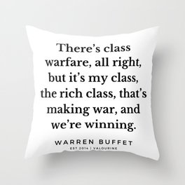 8   | Warren Buffett Quotes | 190823 Throw Pillow