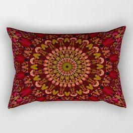 Bohemian Geometric Flower Mandala Rectangular Pillow