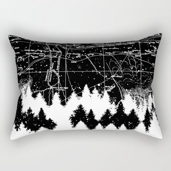 Map Silhouette Square Rectangular Pillow