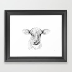 Moo ::  A Young Jersey Cow Framed Art Print